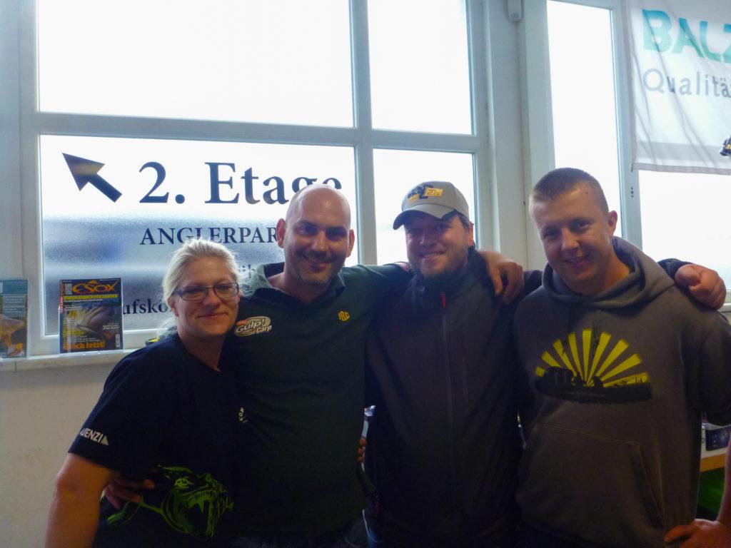 Das Team vom Angler-Paradies und Ich