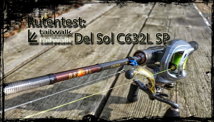 tailwalk del sel s632L sp baitcast rod rutentest