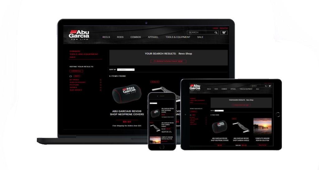 Abu Garcia Reel Shop Page Preview