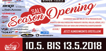 Season Opening SALE bei Nippon-Tackle