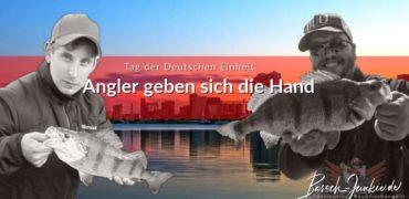 Tag der Deutschen Einheit - Angler geben sich die Hand