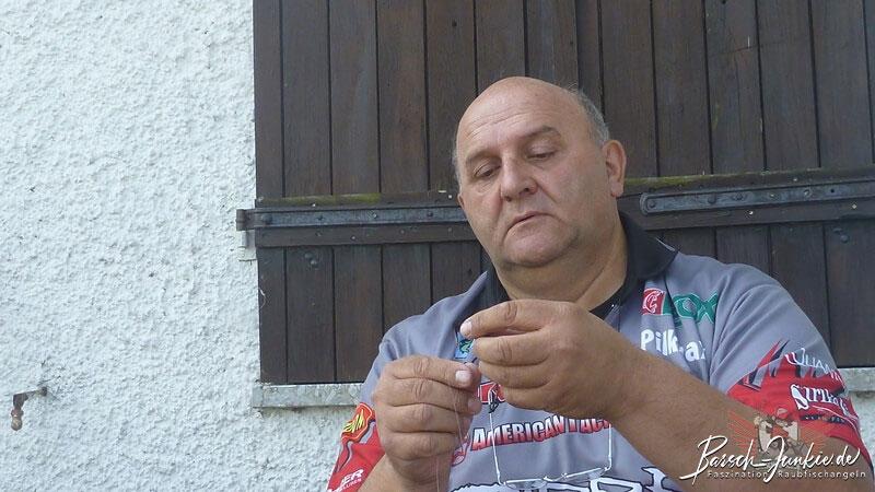 American Tackle Shop Finesse Kurs Karl-Heinz Alschner beim binden