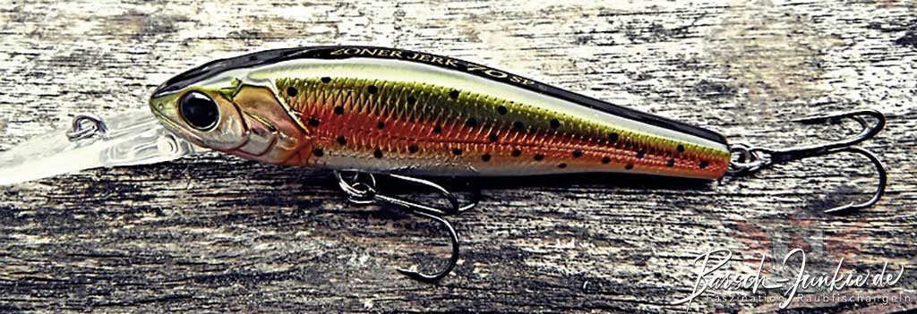 Major Craft Zoner Jerkbait Rainbow Trout